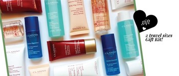 Clarins exclusive - travel sizes offer