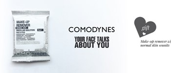 Exclusive comodynes offer: make-up remover wipes