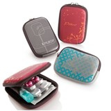 blistercase pilbox pocket assorted colors