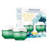 coffret aquasource gel 20ml + gel de limpeza 20ml + loção 30ml + sérum aura 5ml