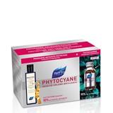 pack phytocyane serum 12ampoules of 7,5ml + shampoo 200ml + phytophanere 120cap