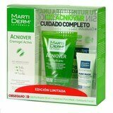 kit acniover creme-gel 40ml+gel purificante 50ml+pure mask 5ml+ esfoliante 4ml