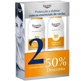 sun duo spray solar transparente toque seco fps50 -50% 2ª embalagem 2x200ml
