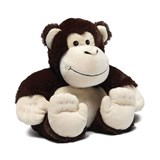cozy plush monkey