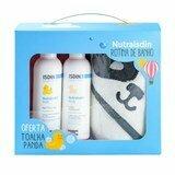 nutraisdin gel-shampoo 200ml + loção hidratante 200ml oferta toalha panda