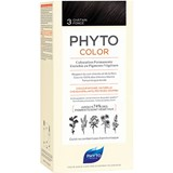phytocolor permanent hair dye 3 dark brown