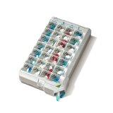 classic caixa de medicação semanal cores sortidas