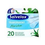 salvequick plasters tranparent with aloe vera 20 units