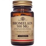Solgar Bromelaina enzima promotora da digestão 30comprimidos