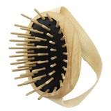 massage ash wood brush with big teeth