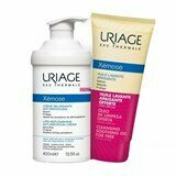 Uriage Xémose emollient cream for atopic skin 400ml + xemose cleansing oil  200ml