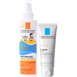 anthelios dermo-pediatrico spf50 spray  200ml + lipikar leite 75ml