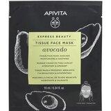 express beauty abacate máscara tecido hidratante e suavizante 10ml