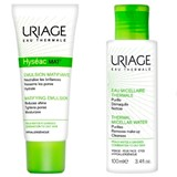 hyséac mat emulsion for oily to combination skin 40ml + água micelar 100ml