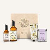 coffret restore moisturizer 100ml+restore hands 50ml+replenish eyes 30ml+tea 50g
