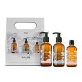 apoem kids gift pack bath oil 50ml + massage oil 50ml + bath gel 50ml