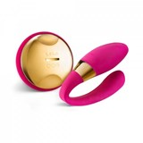 tiani 24k massager with wireless remote control hot cerise