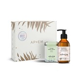 coffret replenish máscara iluminadora 150ml + chá indulge sweet jasmine 50g