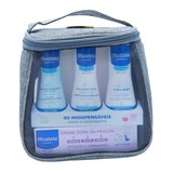 blue travel bag with the indispensable (expiring 03/2020)