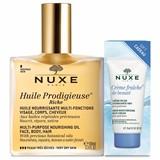 huile prodigieuse rico óleo pele muito seca 100ml+creme rico hidratante 15ml