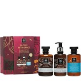 gift set pure jasmine gel de banho 300ml+body milk 200ml+shampoo 250ml