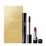coffret diorshow pump'n'volume 090 black pump 6ml + mini rouge dior #999 1.5g