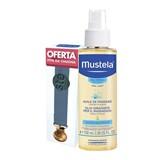 bebé óleo de massagem hidratante 100ml + fita chupeta azul