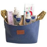 cesta os essenciais de bebé azul
