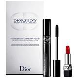Dior Coffret diorshow pump'n'volume 090 black pump 6ml + mini rouge dior #999 1.5g