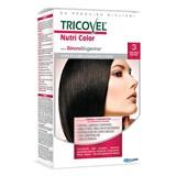 tricovel nutri permanent hair color 40+60+2x12ml | 3- dark brown