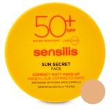 sun secret face compact makeup antiaging 03-bronze 10g