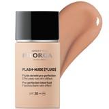 Flash-nude fluido com cor efeito pele nua spf30 02 dourado nude 30ml