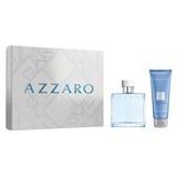 coffret azzaro chrome eau de toilette 50ml + hair&body shampoo 100ml