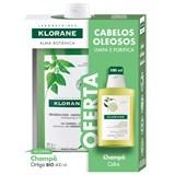 shampoo seborregulador extrato de ortiga cabelo oleoso 400ml + shampoo 100ml
