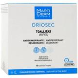 Driosec toalhitas 0% álcool antitranspirantes para todo o corpo 15unidades