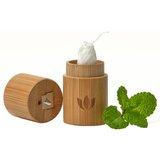 naturbrush suporte bambú para fio dental + recarga 30m