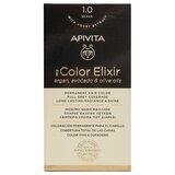 my color elixir permanent hair color 1.0 black