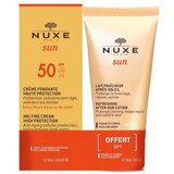 Nuxe Sun summer set: creme rosto spf50 + leite pós-solar 50ml