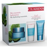 Clarins Coffret hydra essentiel creme 50ml+sos máscara 15ml+esfoliante rosto 15ml