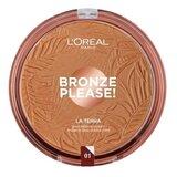 bronze please! la terra sun powder face&body 01 portofino leggerol 18g