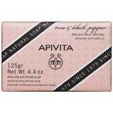 sabonete natural com rosa e pimenta preta 125g