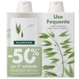 shampoo extra-suave com leite de aveia 2x400ml