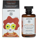 Apivita Kids gel limpeza para cabelo e corpo com tangerina e mel 250ml