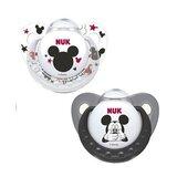Mickey & minnie chupeta em latex 6-18meses cores sortidas 2unidades
