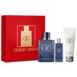 gift pack acqua di giò profondo 75ml + edp 15ml + shower gel 75ml