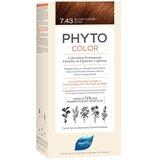Phyto Phytocolor coloração permanente 7.43 louro acobreado dourado