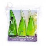 coffret aloe vera 55ml gel de banho 92% + gel calmante 99% + gel limpeza facial