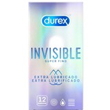 invisible extra lubricated condoms 12units