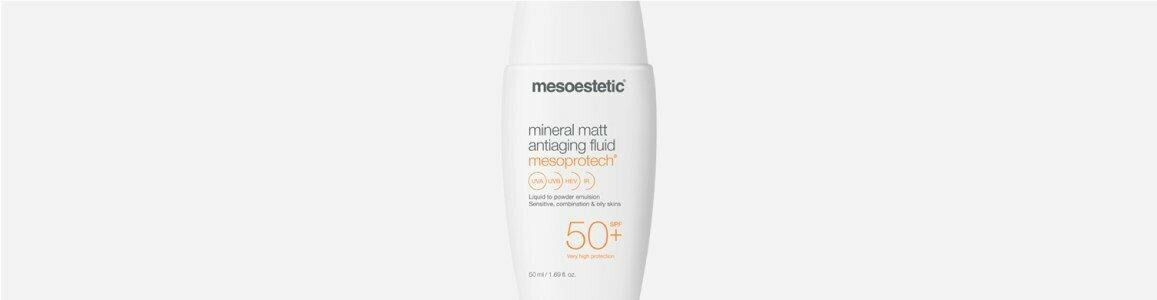 mesoestetic mesoprotech mineral matt fluido protetor solar anti idade