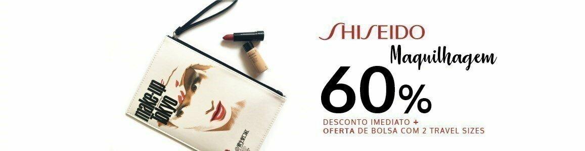 shiseido oferta bolsa maquilhagem